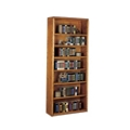 "Medium Oak Seven Shelf Bookcase - 84""H, 10528"