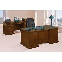 Statesman Executive Desk and Credenza Set, 13987