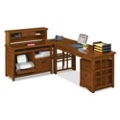 Mission Oak  L-Desk Complete Workstation, 13338