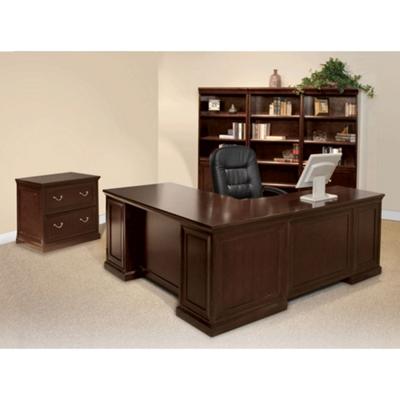 Espresso L Desk With Left Return Office Set, 86200