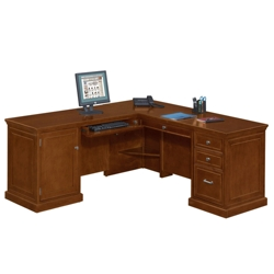 Statesman L-Desk with Left Return, 13346