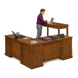 Statesman Executive L-Desk and Standing-Height Desk Set, 13490