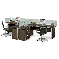 Metropolitan Two L-Desk Benching Set, 13945