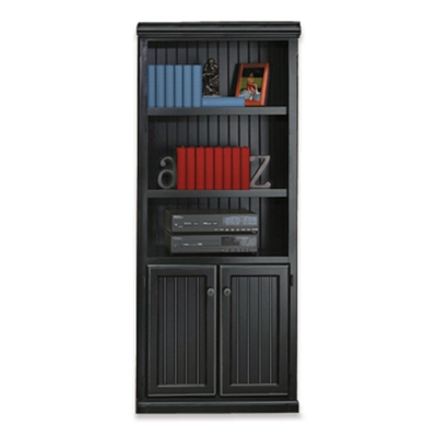 Black and Oak Two Door Bookcase 15232  sc 1 st  National Business Furniture & Bookshelves for Storage | Shop for Office Bookcases with Doors at ...
