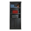 Black and Oak Two Door Bookcase, 15232