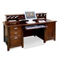 Cherry Computer Desk with Hutch, 15669