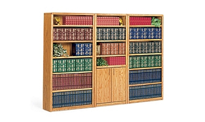 "Medium Oak Library Wall - 102""W, 32479"