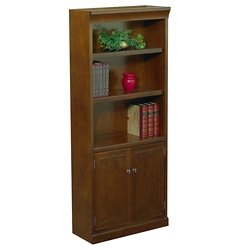 Statesman 72 H Five Shelf Veneer Bookcase With Doors