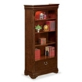 "Pont Lafayette 78.25"" H Four Shelf Bookcase with Drawer, 32889"