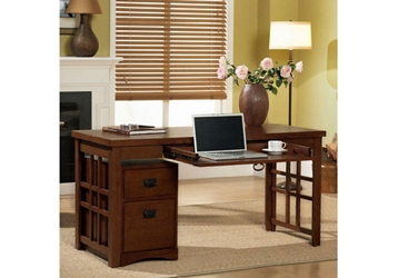 Mission Style Laptop Desk with File, 13534
