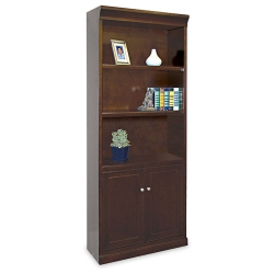 72 H Five Shelf Contemporary Bookcase With Doors 15940