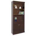 "72"" H Five Shelf Contemporary Bookcase with Doors          , 15940"
