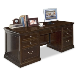 "Espresso 72"" Wide Double Pedestal Executive Desk, 13050"