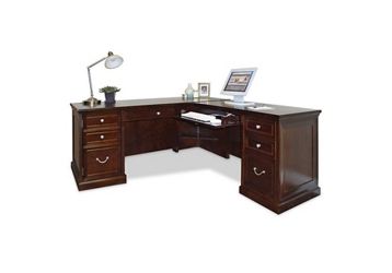Espresso L-Desk with Right Return, 15941