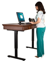"Statesman Height Adjustable Sit-Stand Desk - 60""W, 14860"