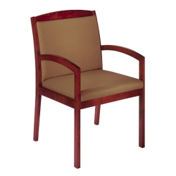 Wood Arm Fabric Guest Chair, 55524