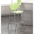 Cinch Armless Stool with Platinum Metallic Frame, 50828