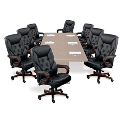 Kingston Big and Tall Executive Chair in Leather - Set of Eight, 50841
