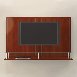 "62""W Four Panel Media Wall with Shelves, 43418"