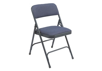 Folding Chair with Double Hinged Fabric Seat & Back, 220050