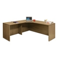 "Wood Grain Corner L-Desk with Left Return - 71""W, 14294"