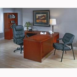 Left L-Shape Desk with Bow Top, 15831
