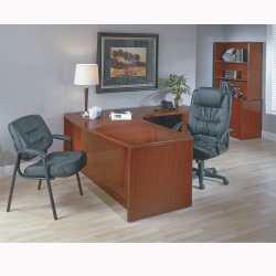 Right L-Shape Desk with Bow Front, 15834