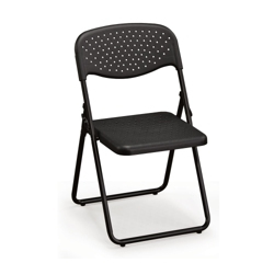 Ventilated Seat and Back Poly Folding Chair, 51325