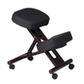 Knee Sit Chair with Mahogany Wood Frame, 56826