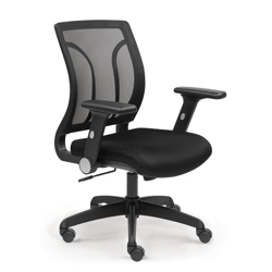 Essential Mesh Back Chair with Flip Arms and Memory Foam Seat, 56947