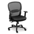 Linear Mesh Back Big and Tall Chair with Memory Foam Fabric Seat, 56949