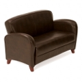 Classic Faux Leather Loveseat, 75165