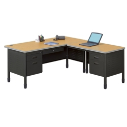 Perforated Metal L-Desk with Right Return, 11321