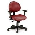 24 Hour Vinyl Task Chair with Arms, 25043