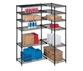"L-Shaped Storage Unit with 12 Wire Shelves - 54""W x 36""D, 31489"