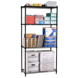 "Storage Unit with Four Wire Shelves - 36""W x 18""D, 31490"