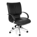 Sharp Series Mid-Back Leather Chair, 50726