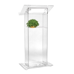 Acrylic Lectern with Shelf, 43335