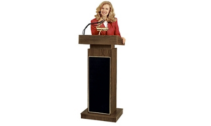 Lectern with Reading Lamp and Microphone, 43465