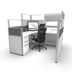 """Two-Tiered 6'x6' Cubicle 53-65""""H, 22334"""