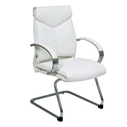 Leather Sled Base Guest Chair, 50966