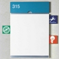 ICON Alert Signage with 12 Icon Tabs and Header, 25224