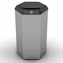 Peter Pepper 22 Gallon Recycle Bin with Slot Top, 25251
