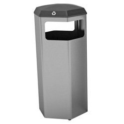Peter Pepper 37 Gallon Recycle and Waste Bin with Rain Top, 25252