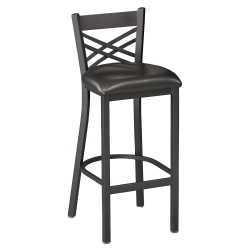 Cross-Back Stool with Black Frame, 44211