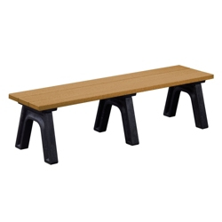 Recycled Plastic Traditional Outdoor Flat Bench 6', 85170