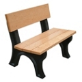 4' W Eco Friendly Outdoor Bench with Backrest, 85886
