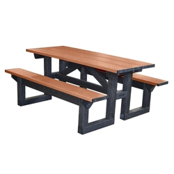6' W Easy Access Picnic Table, 85891