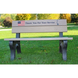4' Veterans Memorial Bench, 83093