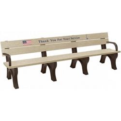 8' Veterans Memorial Bench, 83095